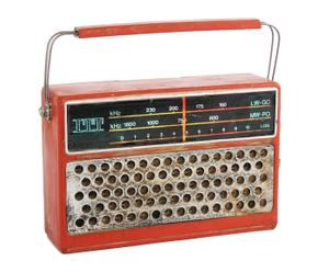 Radio decorativa en resina retro