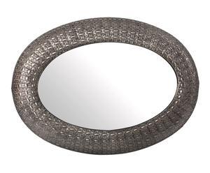 Espejo de pared en metal Étnico – plata