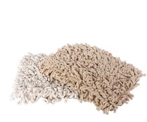 Set de 2 alfombras de baño en algodón– beige y marrón