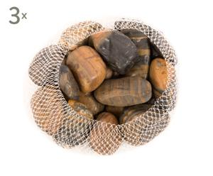 Set de 3 bolsas con piedras decorativas Rayadas - medianas