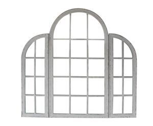Espejo de pared de DM Ventanal – blanco decapado
