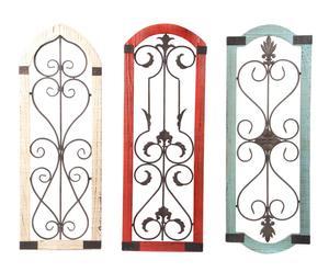Set de 3 decoraciones de pared Ventana