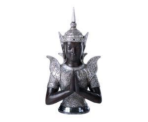 Figura Buda de resina - Plata