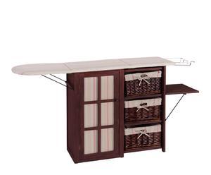 Mueble planchador en paulonia – marrón