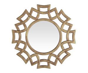 Espejo decorativo de madera Sol I - dorado