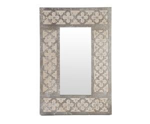 Espejo rectangular en madera – crema