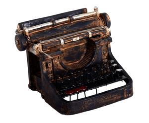 Máquina de escribir decorativa en resina – negro