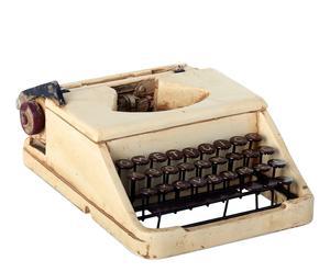 Máquina de escribir decorativa en resina – beige