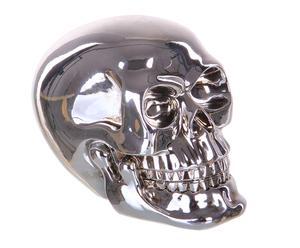 Calavera decorativa en resina – plata