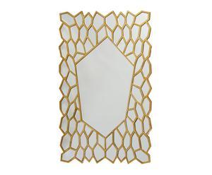 Espejo de madera Panal - dorado