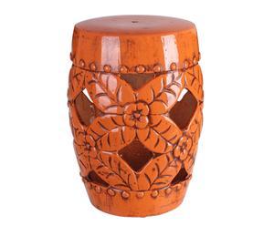 Taburete Oriental en cerámica – naranja