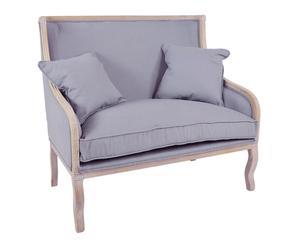 Sofá en madera y algodón Hubert - gris