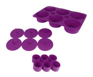 Molde para cupcakes rellenos en silicona – púrpura