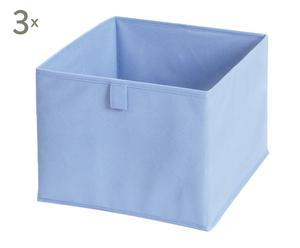 Set de 3 organizadores con 6 compartimentos – azul
