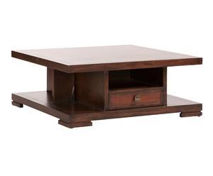 Mesa de centro en madera de castaño y bambú