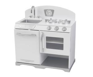 Cocina en madera Retro - blanco