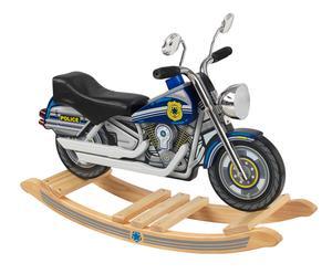 Moto / balancín de madera Policía