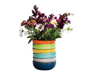 Jarrón de loza de barro esmaltada Bowls - multicolor