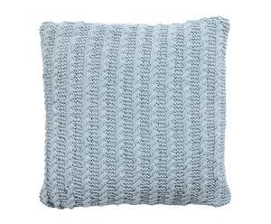 Cojín de punto ochos - azul grisáceo