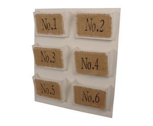 Organizador de pared con 6 compartimentos
