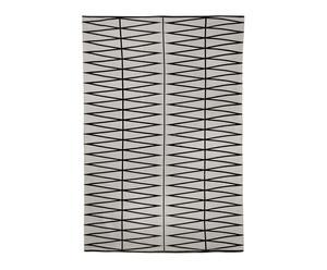 Alfombra de algodón, gris y negro – 140x200
