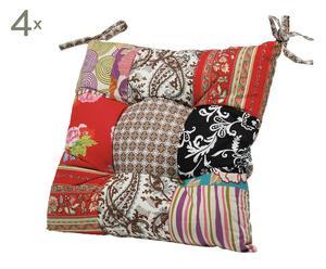 Set de 4 cojines patchwork para sillas