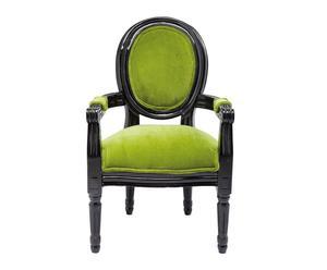 Butaca con reposabrazos – verde y negro