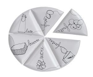 Plato de pizza en porcelana – 6 piezas