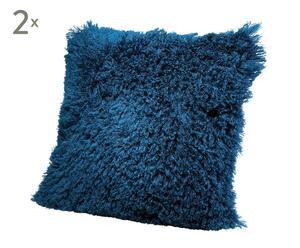 Set de 2 cojines de poliéster - azul