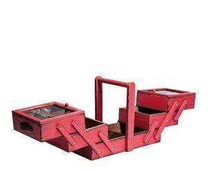 Caja de herramientas vintage – roja