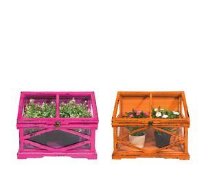 Set de 2 invernaderos – naranja y fucsia
