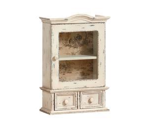 Pequeño armario de pared en madera de paulownia - beige