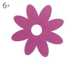 Set de 6 antideslizantes en plástico – rosa