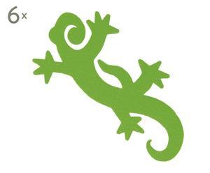 Set de 6 adhesivos anti-patinadores para ducha Gecko - verde