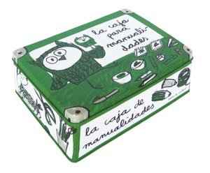Caja de metal Manualidades - verde