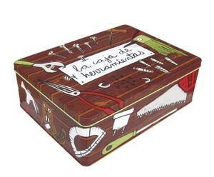 Caja de metal La caja de herramientas - marrón
