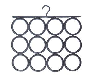 Colgador para pañuelos, fulares y corbatas de polipropileno – gris oscuro
