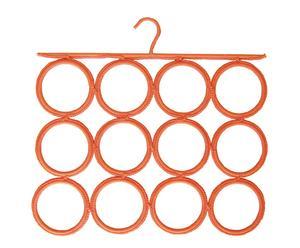Colgador para pañuelos, fulares y corbatas en polipropileno – naranja