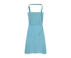Delantal de cocina en poliéster Topos – azul