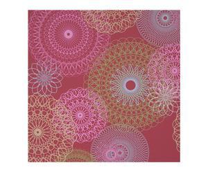 Papel pintado geométrico - rojo