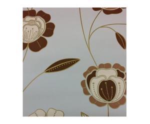 Papel pintado vinílico floral espumado – 53x1000 cm