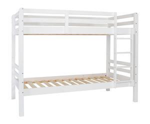 Litera con somier Winona, blanco - 205x103x156