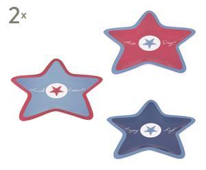 Set de 6 platos con forma de estrella Enjoy Life