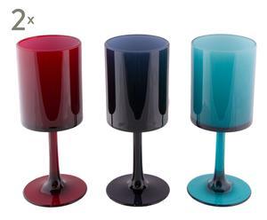 Set de 6 copas para agua Enjoy – multicolor