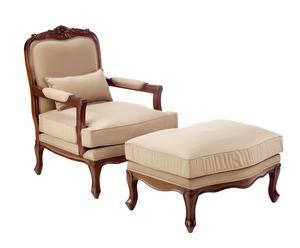 Set de sillón y reposapiés Vintage Victory
