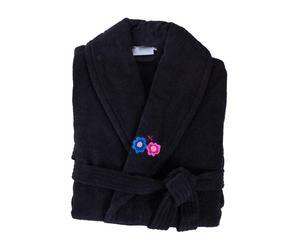 Albornoz Frida Embroidery, negro – talla S