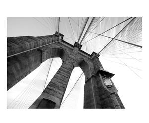 Fotomural Puente de Brooklyn, blanco y negro I -232x315