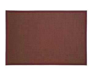 Alfombra de papel y lana, burdeos – 200x140