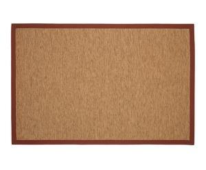 Alfombra de rafia, algodón y papel, multicolor– 200x140