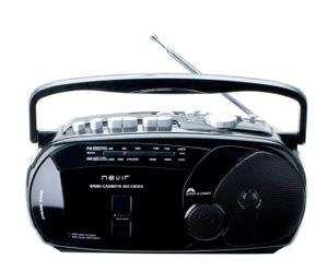 Radio Casette Nevir – negro